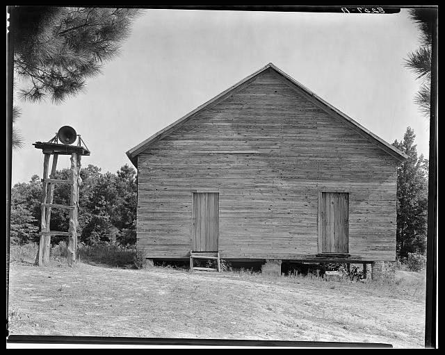 Walker Evans, Alabama Schoolhouse, taken for the US Federal Government [Public Domain] via Wikimedia Commons