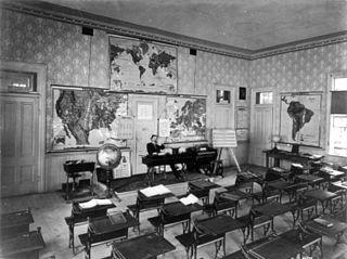 Universal Exhibition of Vienna, 1873: American Rural School, Library of Congress [Public Domain] via Wikimedia Commons