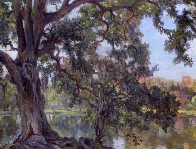 "Charles Wellington Boyle, ""Louisiana Live Oak, City Park, New Orleans, Louisiana,"" c. 1890-1920 [Public Domain] via Wikimedia Commons"