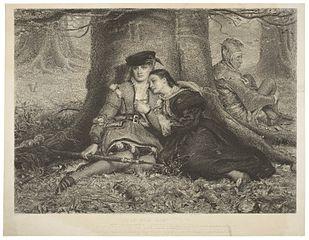 "William Henry Simmons, ""Rosalind and Celia,"" 1870, Folger Shakespeare Library, Washington, DC [Public Domain] via Wikimedia Commons"