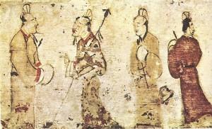 Two Gentleman in Conversation, Eastern Han Dynasty (25-220) AD, Museum of Fine Arts, Boston [Public Domain] via Wikimedia Commons
