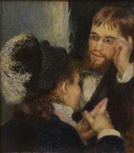 Auguste Renoir, The Conversation, 1879, Nationalmuseum, Stockholm [Public Domain] via Wikimedia Commons