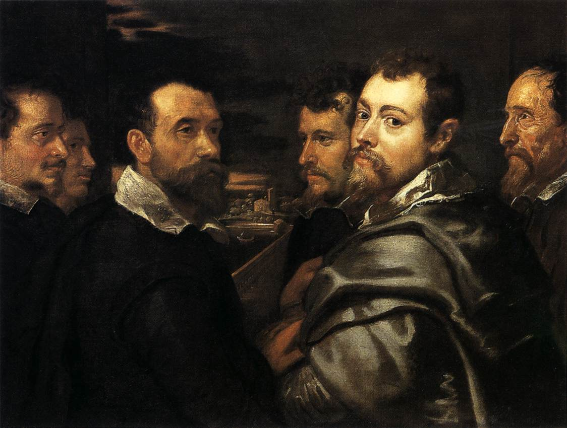 Peter Paul Rubens, Self-Portrait in a Circle of Friends fro Mantua, early 17th century, Wallraf-Richartz Museum, Cologne, [Public Domain] via Wikimedia commons