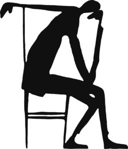 "Franz Kafka's ink and paper illustration, titled ""The Thinker."""