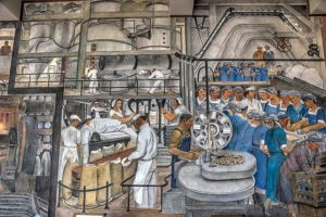Industries of California mural at Coit Tower